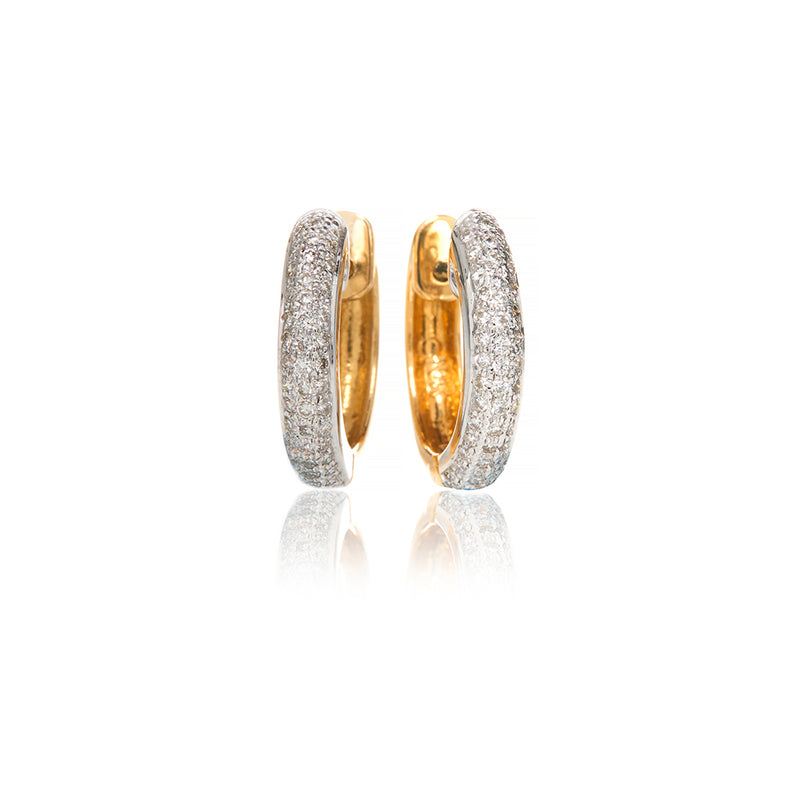 Carli Diamond Huggie Earrings - Sofia Jewelry