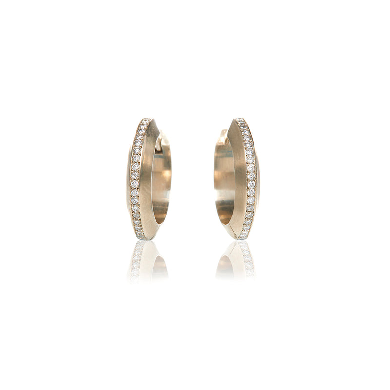Gold Diamond Huggie Earrings - Sofia Jewelry