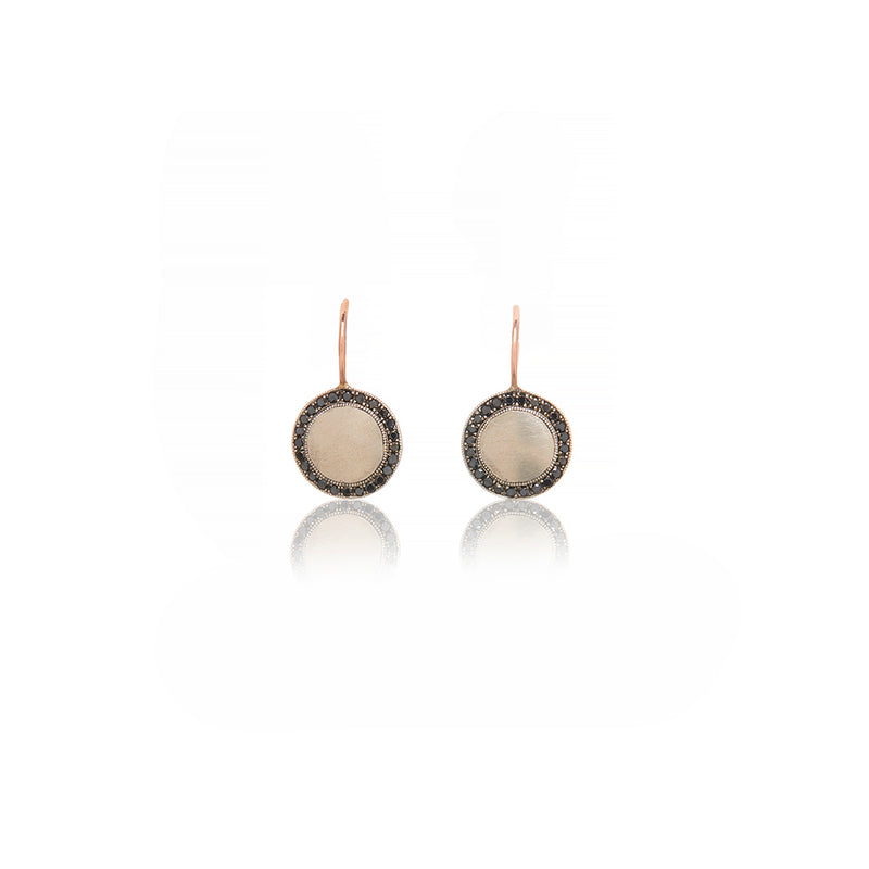 Sterling Silver and Black Diamond Earrings - Sofia Jewelry