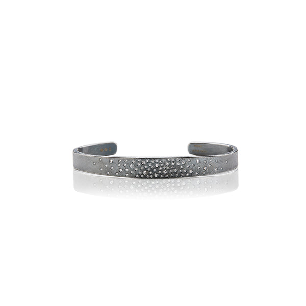 Sterling Silver and Diamond Cuff - Sofia Jewelry