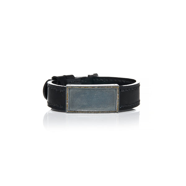 Sterling Silver and Leather Bracelet - Sofia Jewelry
