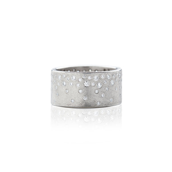 Palladium Constellation Diamond Band - Sofia Jewelry