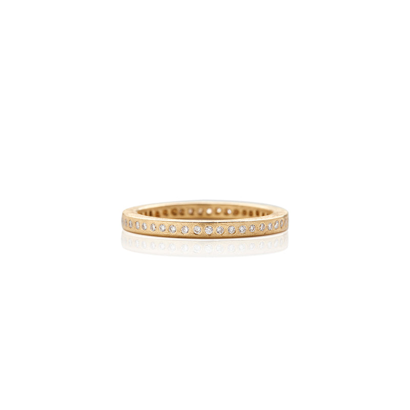 Gold Flush Diamond Band - Sofia Jewelry