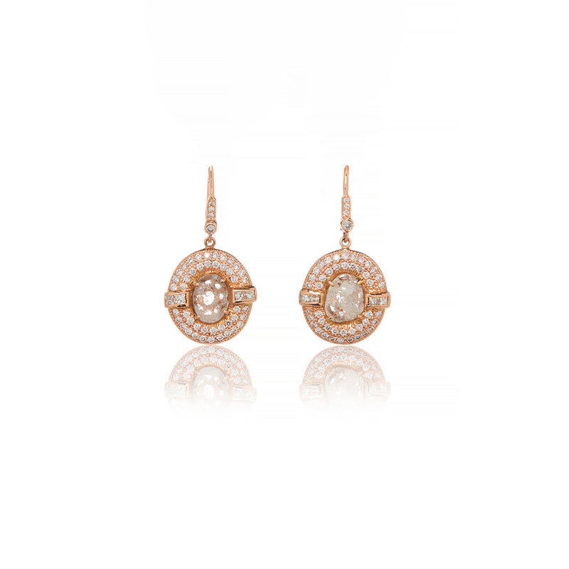 Gold Diamond Slice Earrings - Sofia Jewelry