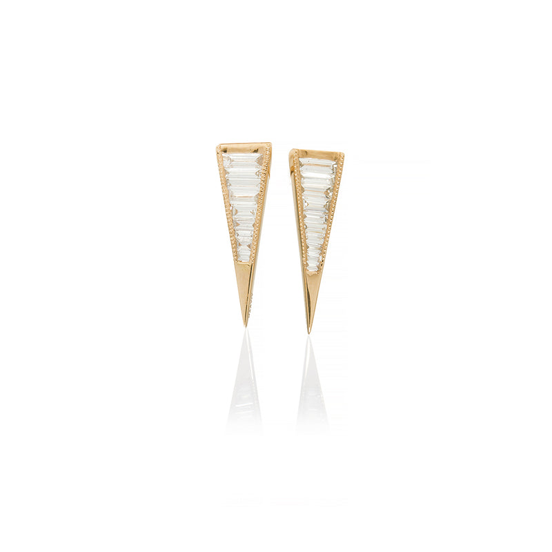 Rose Gold Diamond Earrings - Sofia Jewelry