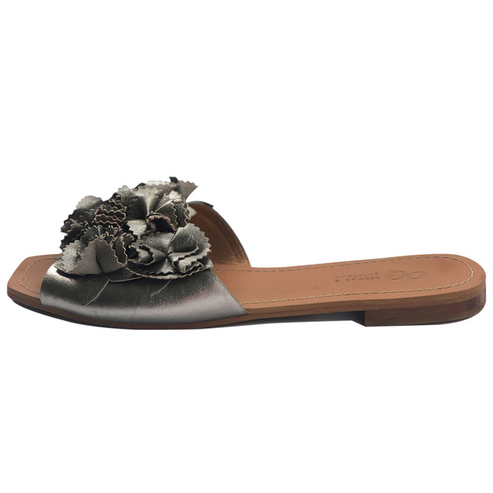 Malynali Jupiter Slide Lead Leather Sandal