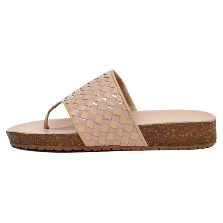 Napoleon Nude Woven Leather Sandal