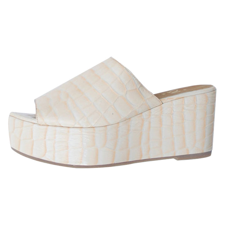 Celeste Nude Leather Wedge Sandal