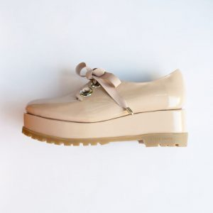 Papagayo Nude Patent Leather Flatform