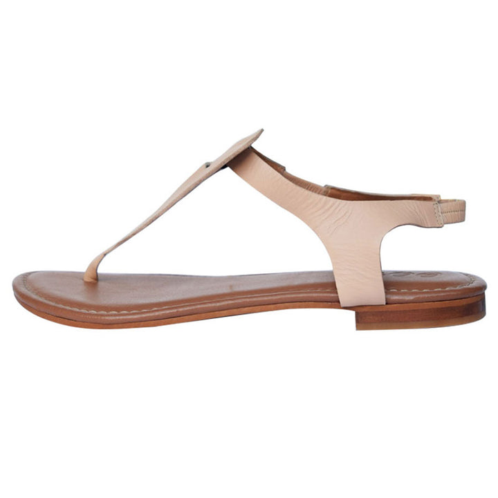 Basic Nude Leather Sandal