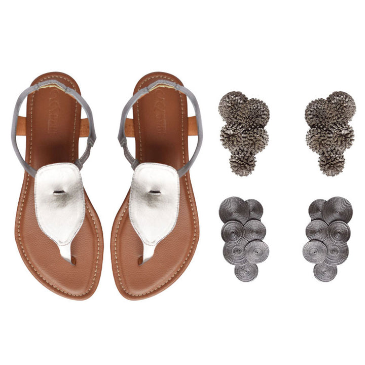 Katyi Three-in-One Chrome Sandal Kit