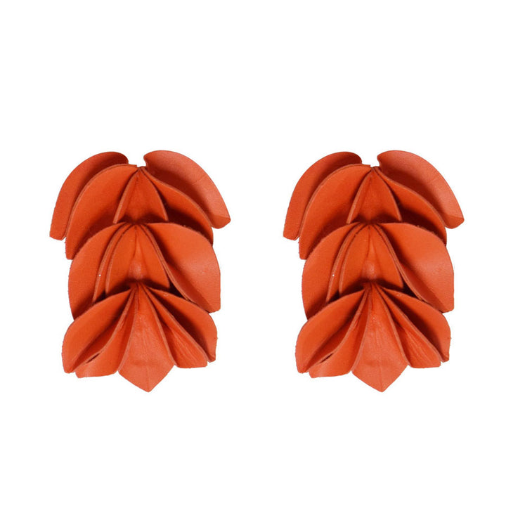 Ala Salmon Orange Leather Bow