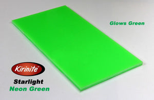 "Starlight Neon Green Kirinite ""In the Light"""