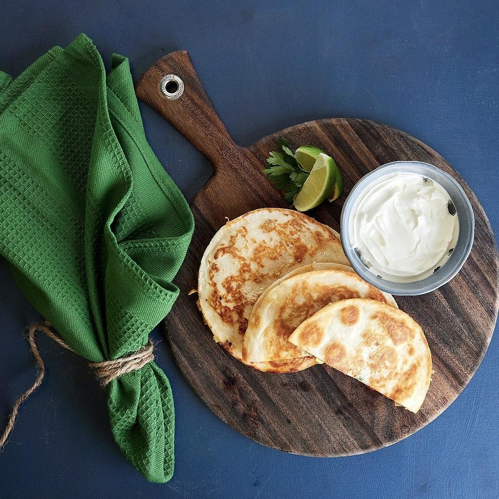 Kid's Three Cheese Quesadillas