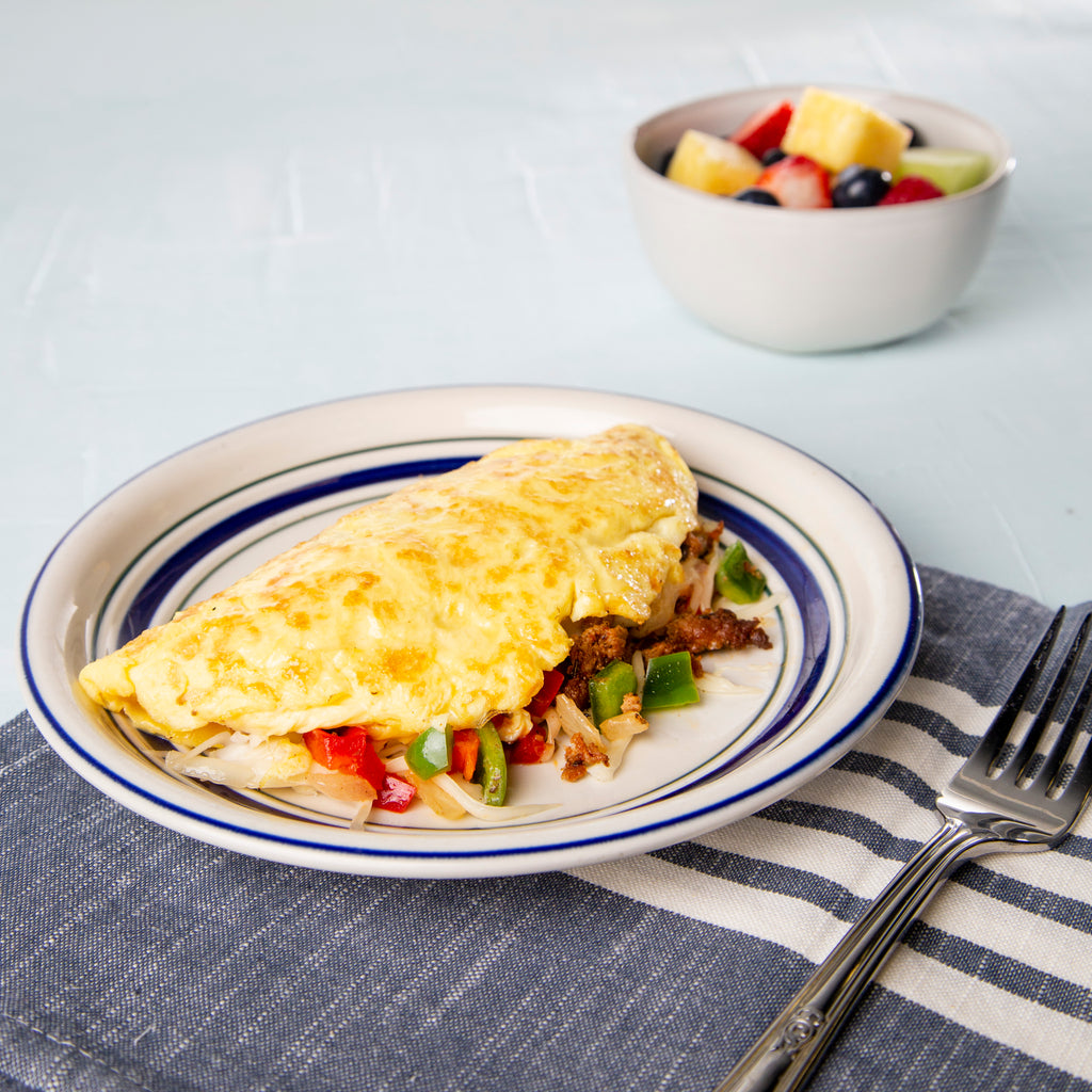 Sausage and Pepper Omelet