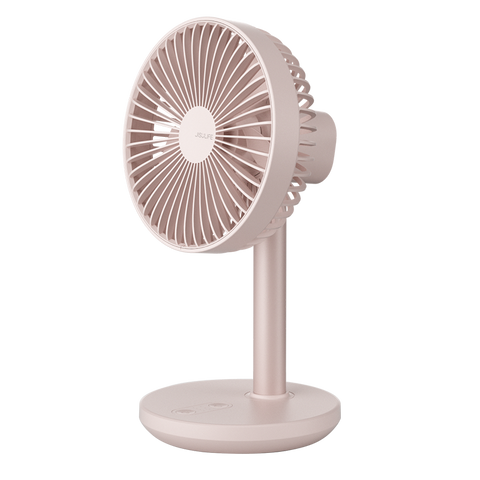 USB-C Rechargeable Portable Table Top Rotating and Telescoping Fan - Pink