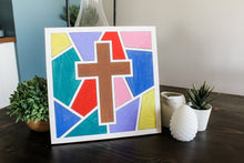 Load image into Gallery viewer, DIY Cross Stained Glass Mosaic Sign