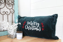 Load image into Gallery viewer, Merry Christmas Velvet Pillow Cover