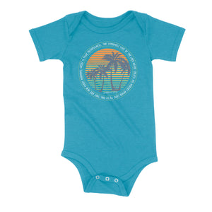 New Every Morning Orange Sunrise Onesie