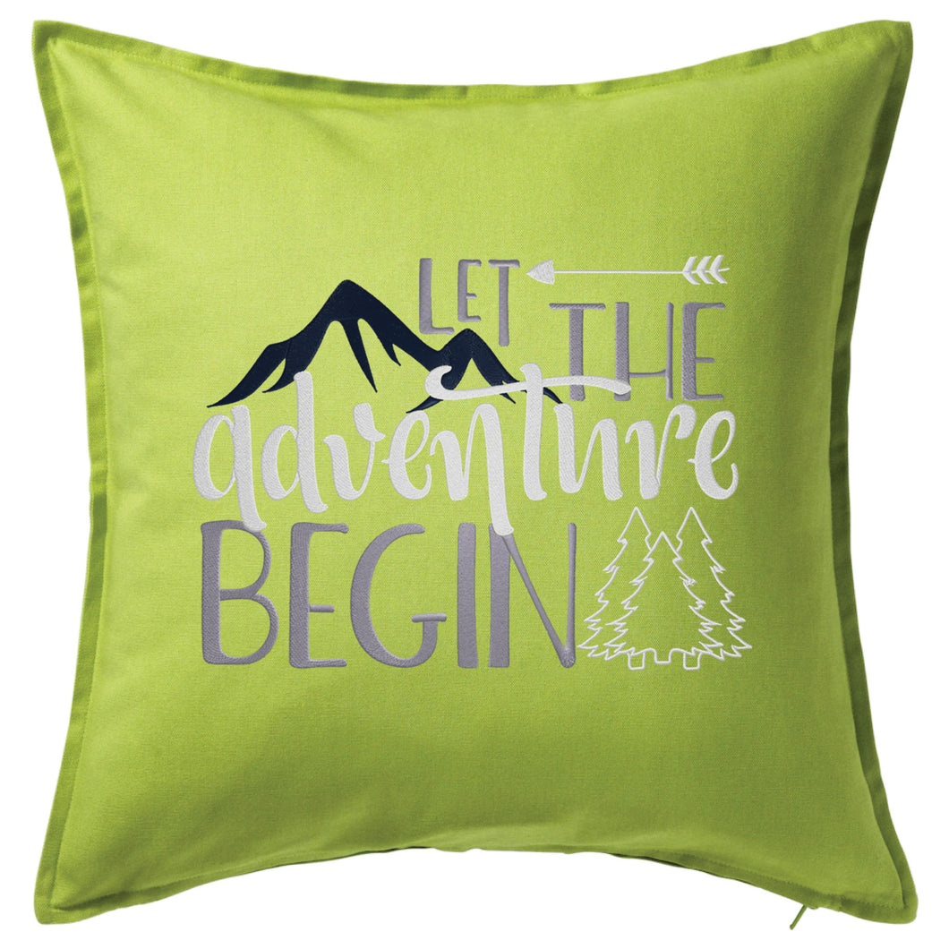 Let the Adventure Begin Pillow