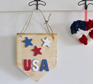 DIY 3D Star Pendant Sign
