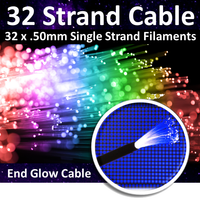 32-Strand End-Glow Fiber Optic Cable