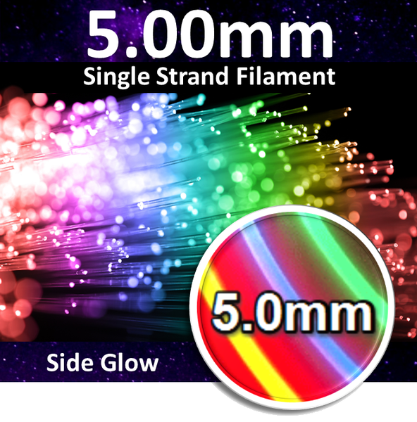 5.00 mm Side-Glow Fiber Optic Filament