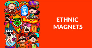 Buy Ethnic Mangnets for your fridge online In India | PosterGuy
