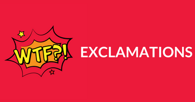 Buy Exclamations Tshirts Mugs Posters framed posters watches Online in India | PosterGuy. Great gift for birthdays, anniversaries, holidays, housewarming, family, friends or for students & coworkers. Choose your favorite exclamation posters, mugs, watches, framed posters from thousands of available designs.