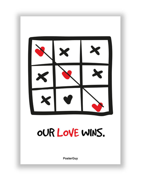 Buy Love Posters Online | Our Love Wins Valentine's Day A4 Poster | PosterGuy.in