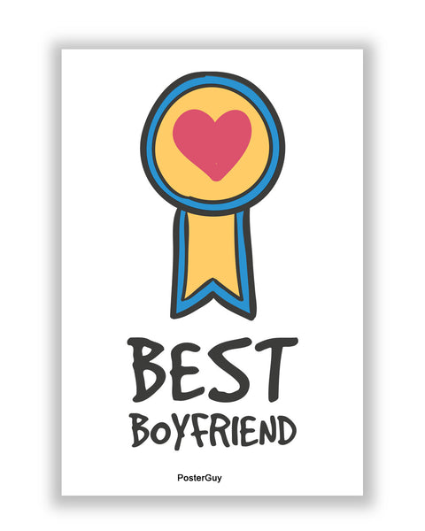 Buy Love Posters Online | Best Boyfriend Valentine's Day A4 Poster | PosterGuy.in