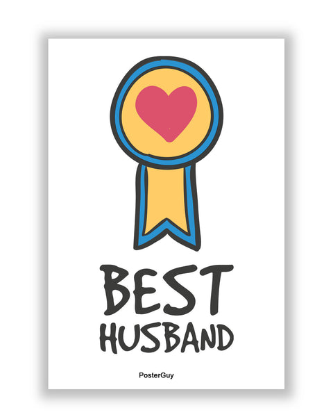 Buy Love Posters Online | Best Husband Valentine's Day A4 Poster | PosterGuy.in