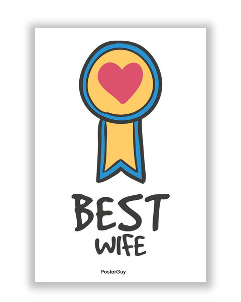 Buy Love Posters Online | Best Wife Valentine's Day A4 Poster | PosterGuy.in