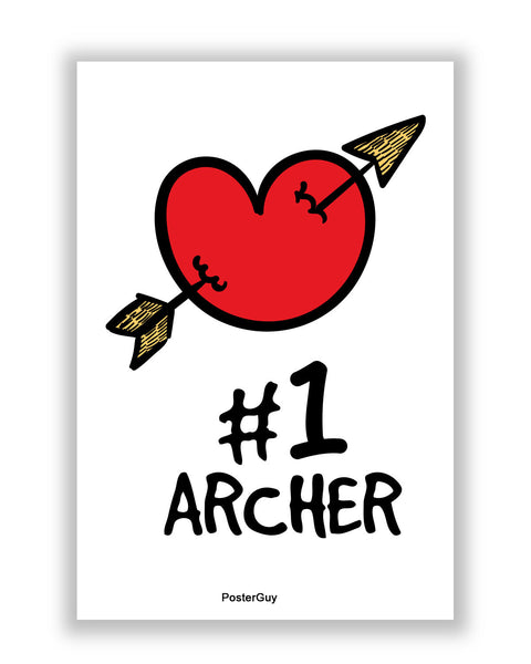 Buy Love Posters Online | No. 1 Archer Valentine's Day A4 Poster | PosterGuy.in