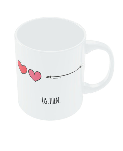 Us then and Now Valentine's Day Coffee Mug Online India