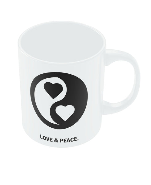 Love and Peace Valentine's Day Coffee Mug Online India