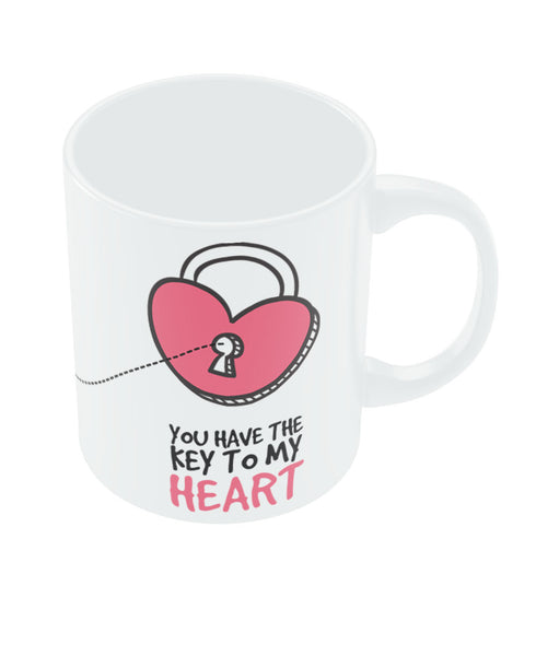 Key to my Heart Valentine's Day Coffee Mug Online India