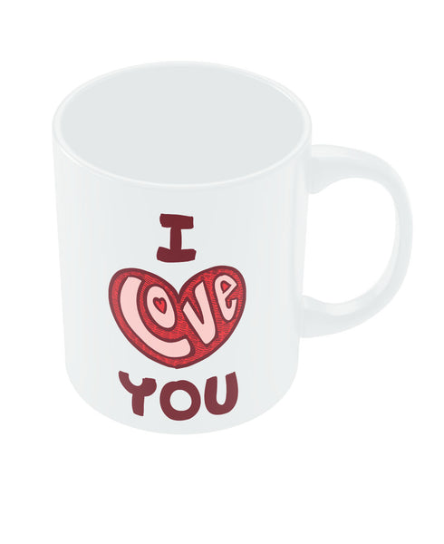 I Love You Red Valentine's Day Coffee Mug Online India