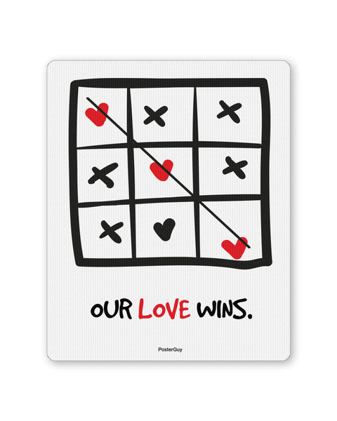Mouse Pads | Our Love Wins Valentine's Day Mouse Pad Online India | PosterGuy.in