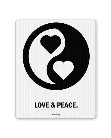 Mouse Pads | Love and Peace Valentine's Day Mouse Pad Online India | PosterGuy.in