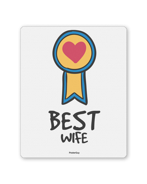 Mouse Pads | Best Wife Valentine's Day Mouse Pad Online India | PosterGuy.in