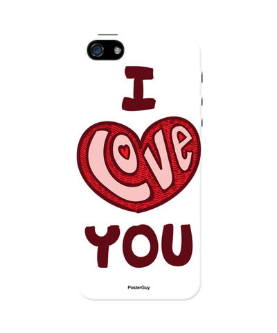 I Love You Red Valentine's Day iPhone 5/5S Case 2