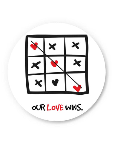 Our Love Wins Valentine's Day Fridge Magnet Online India