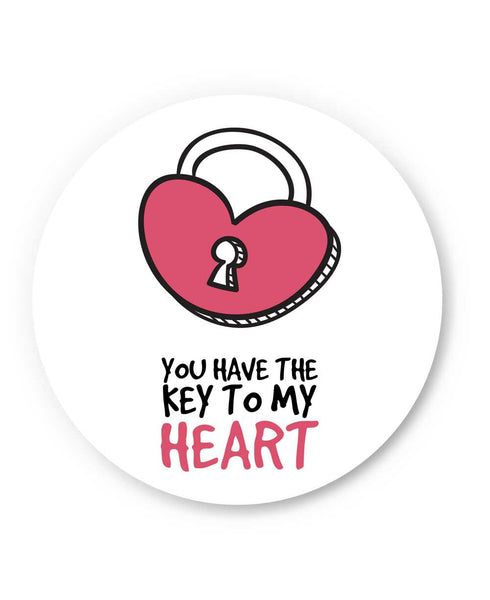 You are the Key to My Heart Valentine's Day Fridge Magnet Online India