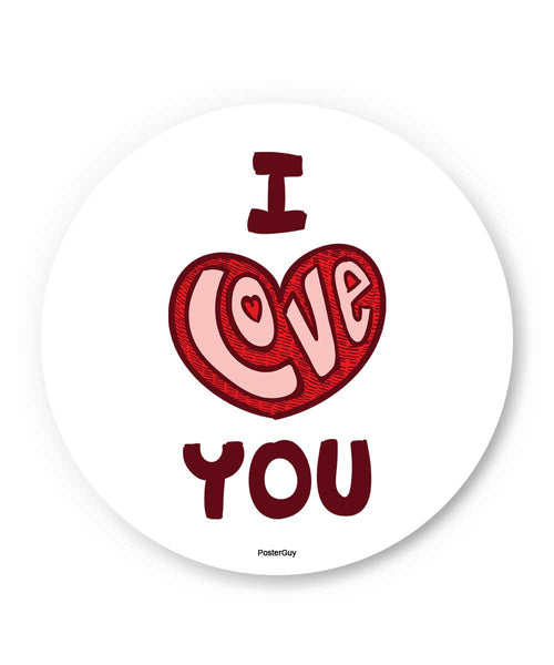 I Love You Red Valentine's Day Fridge Magnet Online India