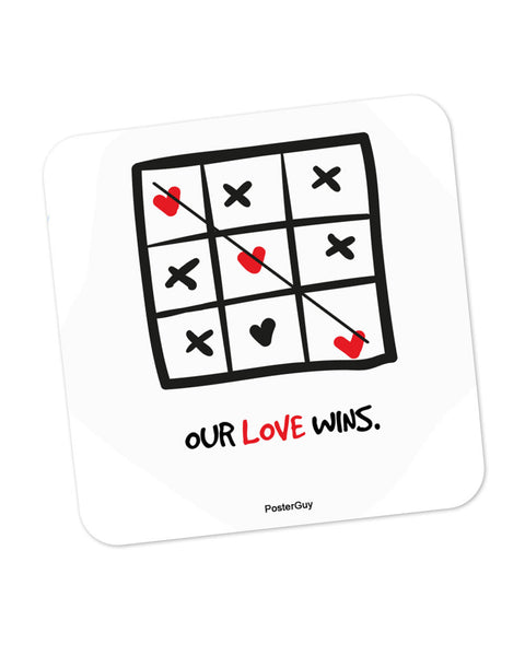Our Love Wins Valentine's Day Coaster Online India