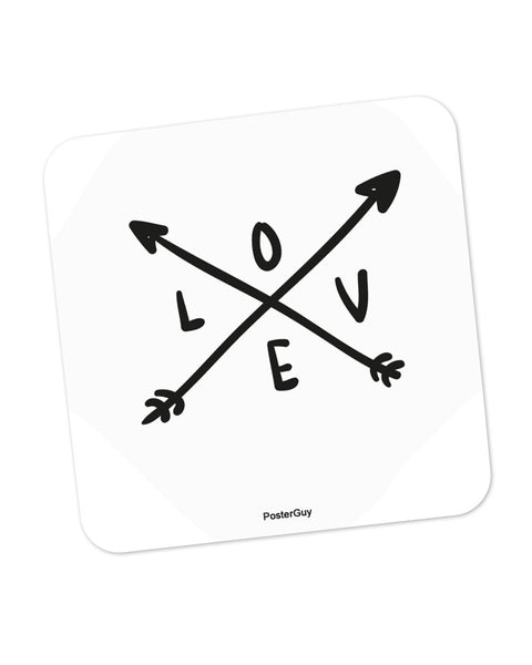 Love Arrow Valentine's Day Coaster Online India