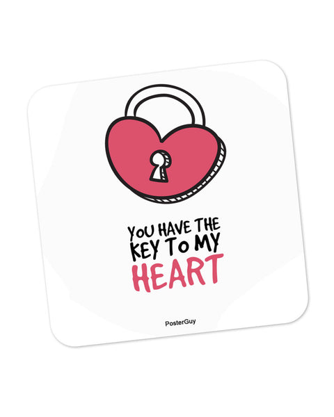 You are the Key to My Heart Valentine's Day Coaster Online India
