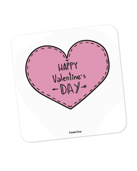 Happy Valentine's Day Coaster Online India