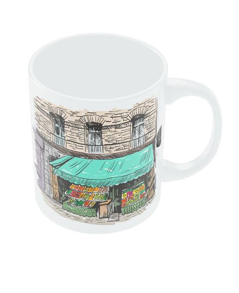 Dream Shop Digital Art Illustration Coffee Mug Online India